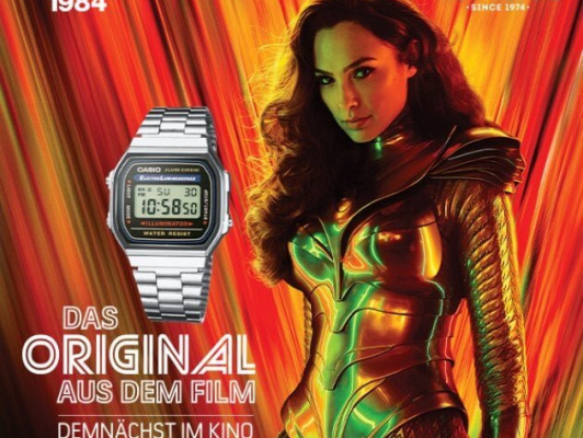 Casio A168W-1 a film Wonder Woman 1984