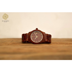 Hodinky AB AETERNO  SUNSET RED SANDALWOOD