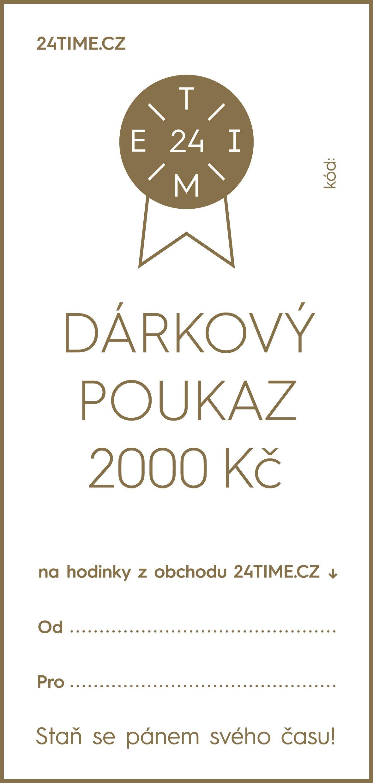 Dárkové poukazy Dárkový poukaz - 2 000 Kč + dárek zdarma