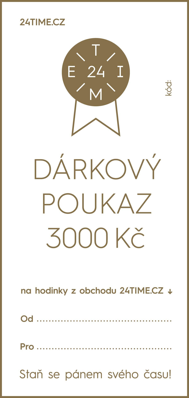 Dárkové poukazy Dárkový poukaz - 3 000 Kč + dárek zdarma