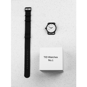Hodinky TID Watches No.1 Black/ Tan Wristband