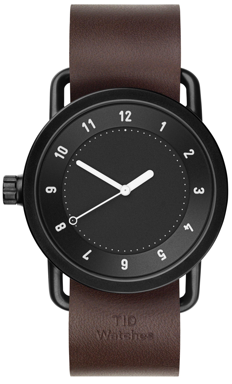 TID Watches No.1 Black/ Walnut Wristband + dárek zdarma