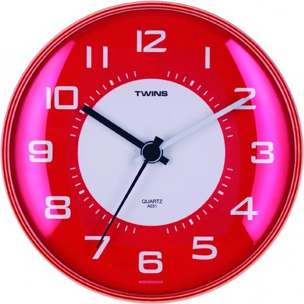 TWINS Nástěnné hodiny Twins 031 red + dárek zdarma