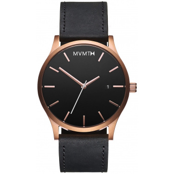 MVMT Rose Gold Black / Leather