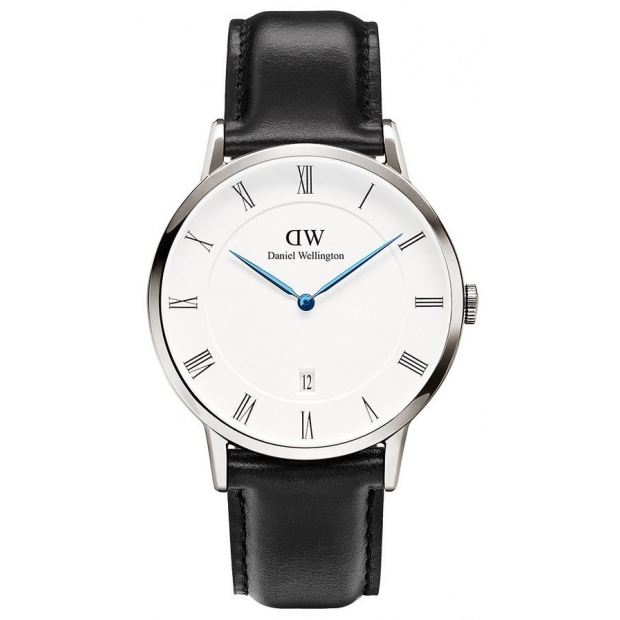 Hodinky DANIEL WELLINGTON DAPPER SHEFFIELD SILVER 38MM