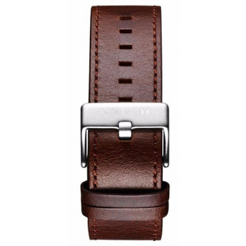 MVMT MENS CLASSIC SERIES 24MM BROWN LEATHER SILVER