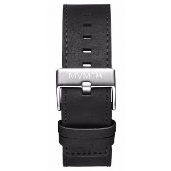 MVMT MENS CLASSIC SERIES 24MM BLACK LEATHER SILVER