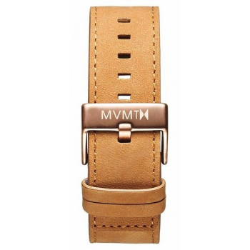 MVMT MENS CLASSIC SERIES 24MM TAN LEATHER ROSE GOLD