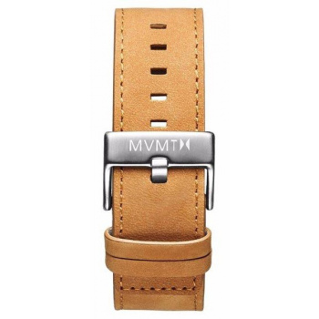 MVMT MENS CLASSIC SERIES 24MM TAN LEATHER SILVER