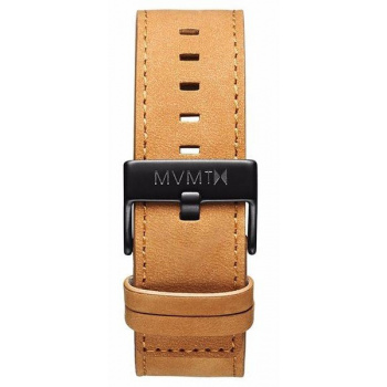 MVMT MENS CLASSIC SERIES 24MM TAN LEATHER BLACK