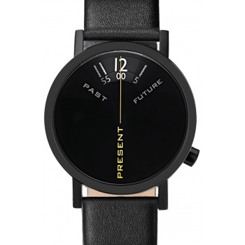 PROJECT WATCHES Past, Present & Future Black / Leather