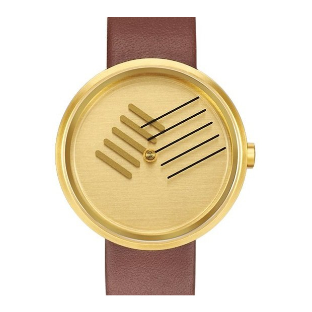 Hodinky PROJECT WATCHES On the Right Track / Brass Color / Stainless Steel