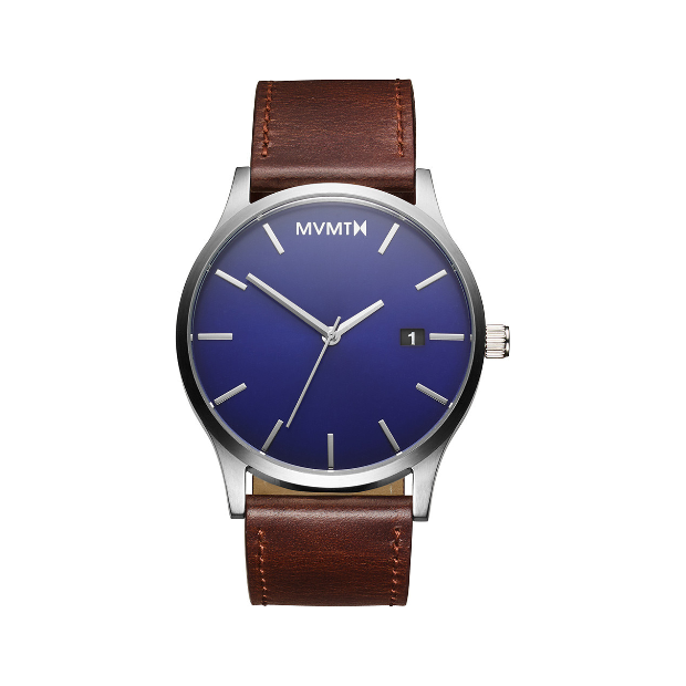 Hodinky MVMT Blue / Brown Leather