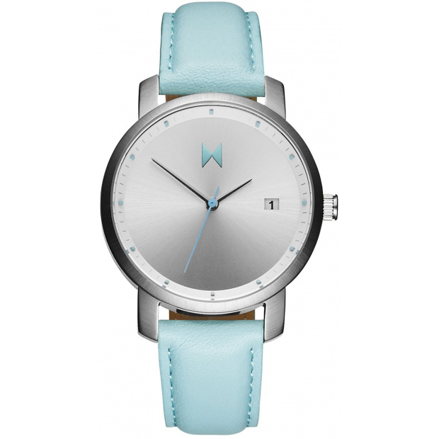Hodinky MVMT SIGNATURE SERIES - 38 MM SILVER/ARCTIC LEATHER