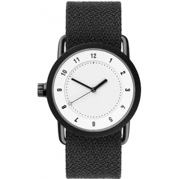 TID Watches No.1 36 White / Coal Twain Wristband
