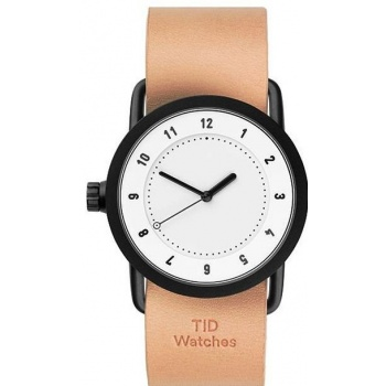 TID Watches No.1 36 White / Natural Leather Wristband