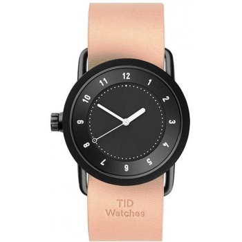TID Watches No.1 36 Black / Natural Leather Wristband