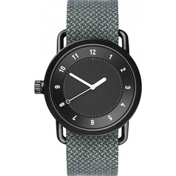 TID Watches No.1 Black / Pine Twain Wristband