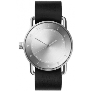 TID Watches No.2 / Black Leather Wristband
