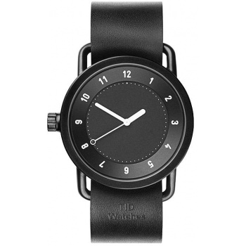TID Watches No.1 Black / Black Leather Wristband