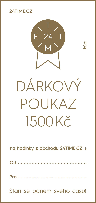 Dárkové poukazy Dárkový poukaz - 1 500 Kč + dárek zdarma