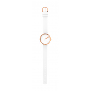 Hodinky PICTO WHITE/POLISHED ROSE GOLD 43381-0212R