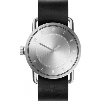 TID Watches No.1 Steel / Black Leather Wristband
