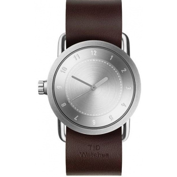 TID Watches No.1 36 Steel / Walnut Leather Wristband