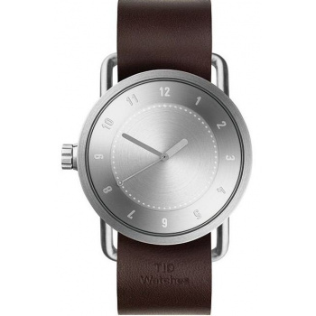 TID Watches No.1 Steel / Walnut Leather Wristband