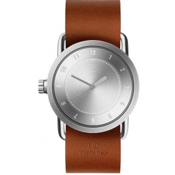 TID Watches No.1 36 Steel / Tan Leather Wristband