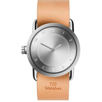 TID Watches No.1 36 Steel / Natural Leather Wristband