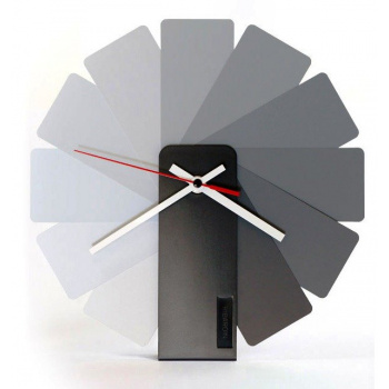 KIBARDINDESIGN TRANSFORMER ANALOG CLOCK / BLACK & MONOCHROME