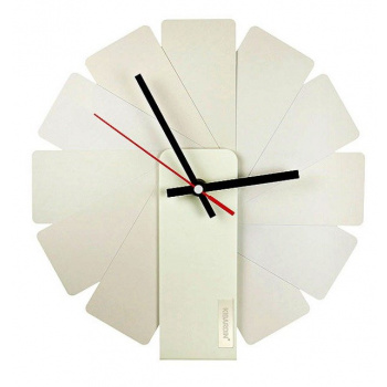 KIBARDINDESIGN TRANSFORMER ANALOG CLOCK / WHITE & WHITE