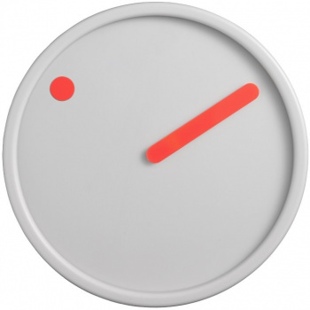 PICTO Picto Clock - Orange on Light Grey