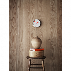 Hodiny PICTO Picto Clock - Orange on Light Grey