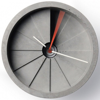 22 DESIGN STUDIO  4th Dimension Wall Clock - Red/ Gray