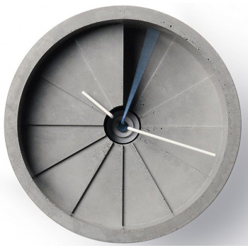 22 DESIGN STUDIO 4th Dimension Wall Clock - Blue/ Gray