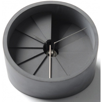 22 DESIGN STUDIO 4th Dimension Table Clock - Silver/ Dark Gray