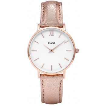 CLUSE MINUIT ROSE GOLD WHITE/ROSE GOLD METALLIC
