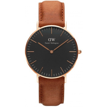 DANIEL WELLINGTON CLASSIC BLACK ST MAWES ROSE GOLD