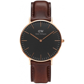 DANIEL WELLINGTON CLASSIC BLACK BRISTOL ROSE GOLD