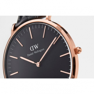 Hodinky DANIEL WELLINGTON CLASSIC BLACK DURHAM ROSE GOLD