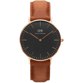 DANIEL WELLINGTON CLASSIC BLACK DURHAM ROSE GOLD