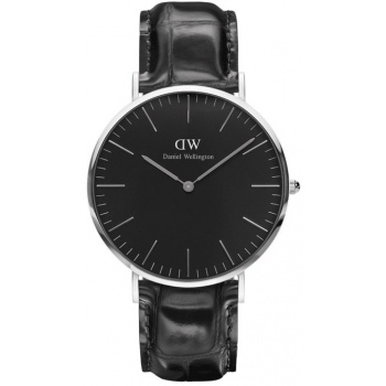 DANIEL WELLINGTON CLASSIC BLACK READING SILVER - VELKÉ
