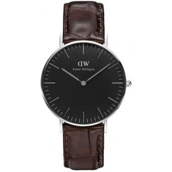 DANIEL WELLINGTON CLASSIC BLACK YORK SILVER