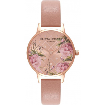 OLIVIA BURTON DOT DESIGN FLORAL DUSTY PINK & ROSE GOLD OB16VE02