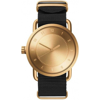 TID Watches No.1 Gold / Black Nylon Wristband