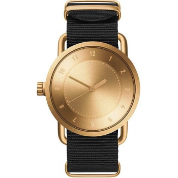 TID Watches No.1 36 Gold / Black Nylon Wristband