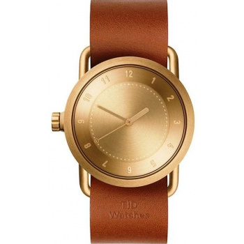 TID Watches No.1 36 Gold / Tan Leather Wristband
