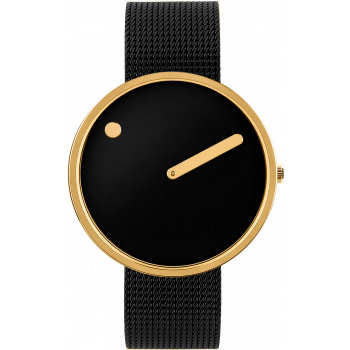 PICTO BLACK/POLISHED GOLD 43387-1020